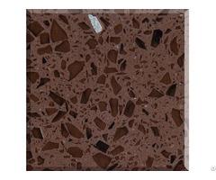 Supply Crystal Brown Quartz Stone Slabs
