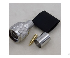 Rf Coaxial N Male Crimp Connector For Lmr400 Cable