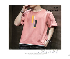Pure Cotton Breathable Soft And Wear Resistant Summer Men S T Shirt Aomi R009