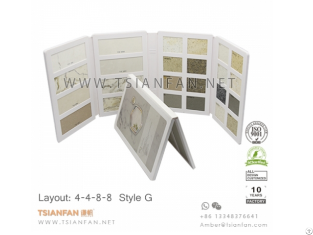 Stone And Tile Display Folder Binder Plastic Injection Molding Products Factory