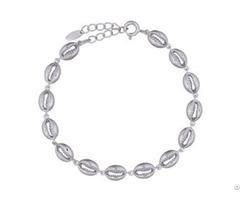 Sterling Silver 925 Hollow Shells Chain Bracelets