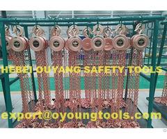 Non Sparking Lifting Chain Hoist Block Range 500 20000kg Atex Copper Beryllium