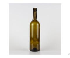 1548# 750ml Cork Finish Bordeaux Wine Glass Bottle Classical Green