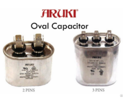 Oval Capacitor For Ac 3 Uf 2 Pins A108003