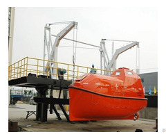 Marine Used Totally Enclosed Lifeboat With Davit Price For Sale