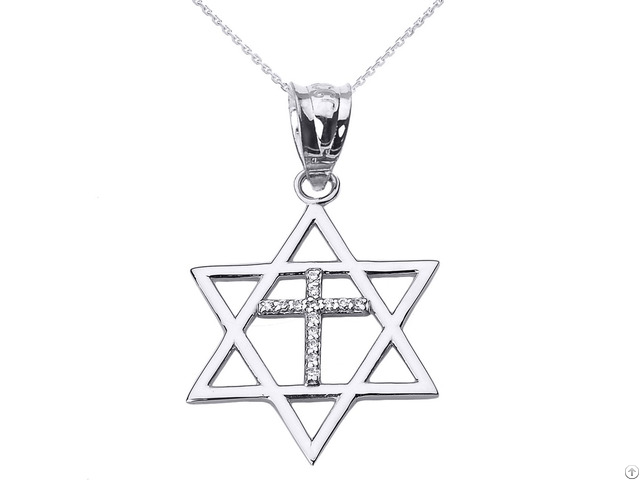 Sterling Silver Star Of David Pendant With 20 Inch Chain