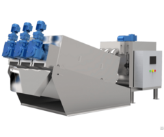 Wastewater Treatment Machine And Sludge Dewatering Equipment Multi Disk Screw Press In China