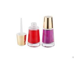 Fashionable 30ml Glass Cosmetic Flat Shoulder Serum Dropper Bottle
