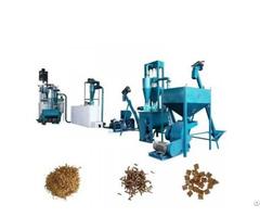 Animal Feed Machine Processes Pellets