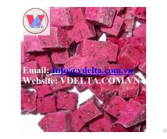 Frozen Dragon Fruit Dice Product Of Vietnam