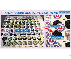 Print Vinyl Logo Cutting By Vision Laser Marking Machine