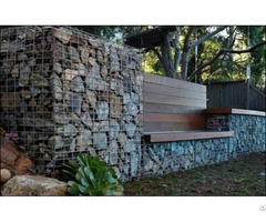 Gabion Wall For Protection And Decoration