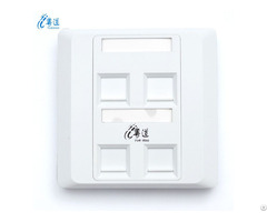 Good Quality Rj45 86 Type 1 2 4 Port Network Faceplate