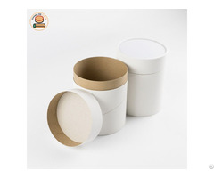 Id99 H120mm T Shirt Packaging Tube Eco Friendly Tissue Box Paper Tubes White