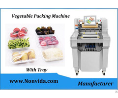 Food Tray Packing Machine For Meat Vegetable Fruits