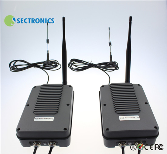 1 2ghz 3000mw 16 Ch 2000 Meters Waterproof Wireless Video Transmitter For Ptz