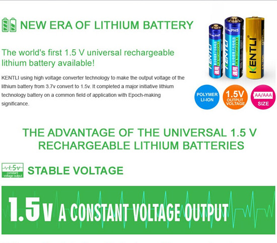 1 5v Rechargeable Li Ion Aa Battery Polymer Lithium Cells