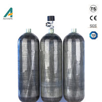 1 6l Oxygen Breathing Apparatus Use Composite Gas Cylinder