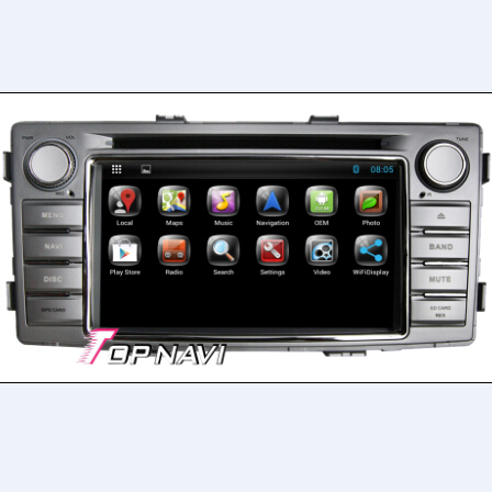 1 Din 6 2 Inch Capacitive Multi Touch Screen Android Car Dvd Player Gps For Toyota Hilux 2012
