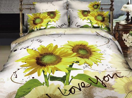 100 Cotton Bedding Set Reactive Printing 3d