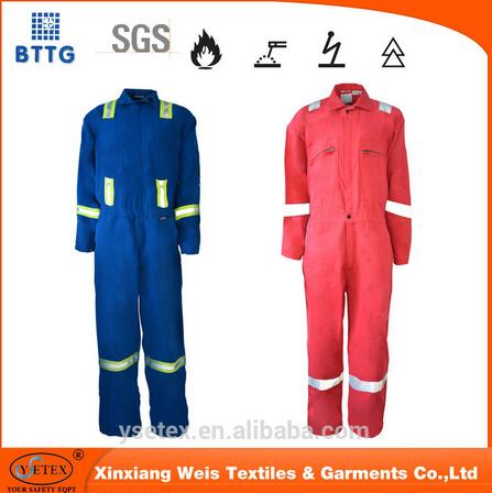 100 Cotton Fire Resistant Workwear Coverall Ppe For Welding Industry