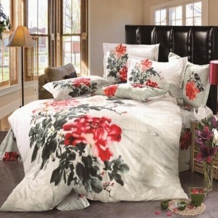 100 Cotton Printed 4pcs Bedding Set
