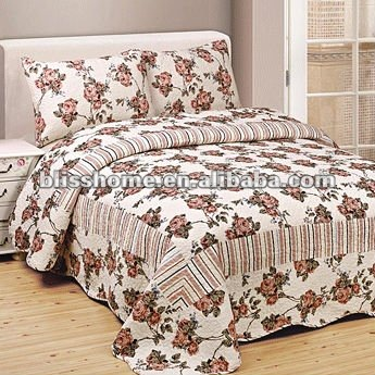 100 Cotton Vintage Floral Printed Quilts