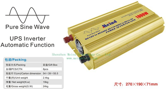1000w Power Inverter Pure Sine Wave With Ups Ac Converter Car Inverters Supply Adapter Charger