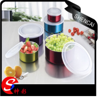 10pcs Colorful Stainless Steel Mixing Bowl Set Canister