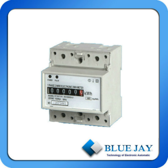120 V 220 Output Energy Meter Single Phase Two Wire Mini Power Active Din Rail