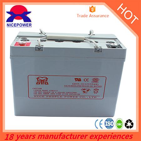 12v55ah Gel Battery