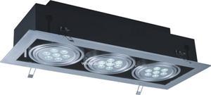 12w 18w 30w Single Double Tri Head Led Grille Light With Epistar Chip High Lumen Efficiency