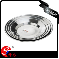 14cm 24cm Stainless Steel Soup Plate Round Dinner