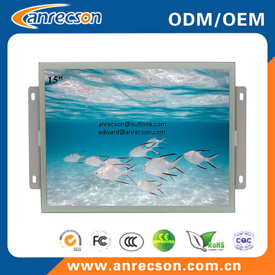 15 Inch Resistive Touchscreen Embedded Open Frame Monitor
