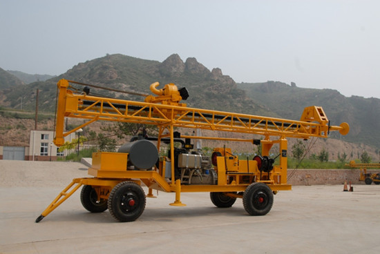 150m Depth Trailer Mounted Water Well Drilling Rig For Sale