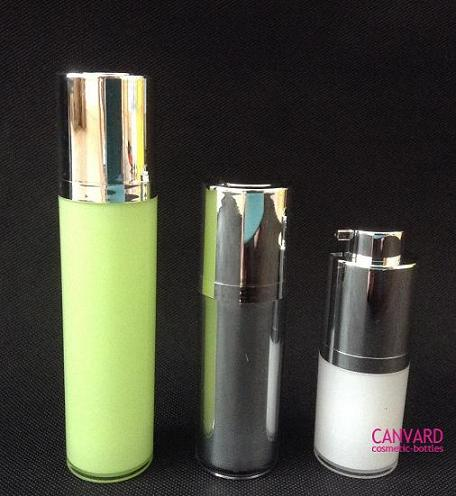 15ml 30ml 50ml Screw Up Aluminium Airless Bottle Serum Cosmetic Supplier