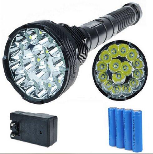 15pcs Led Cree U2 T6 18000lm 1500m18650 Rechargeable Flashlight