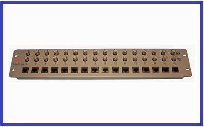 16 E1 Coax To Rj45 Front Mount Balun Panel