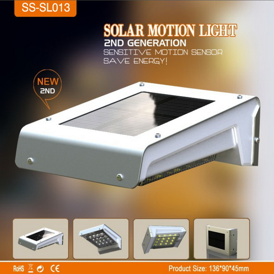 16 Leds Solar Powered Led Night Light Motion Sensor