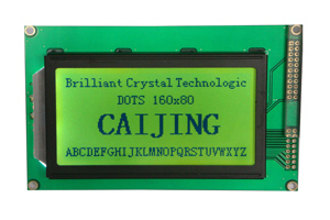 160x80 Dots Matrix Lcd Display Module With Led Backlight Cob Style Yellow Green Cm16080 2