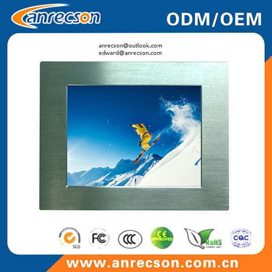 17 Inch Rugged Panel Mount Touch Screen Lcd Monitor With Vga Dvi Input