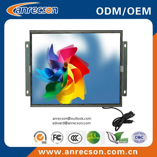 17 Inch Touch Open Frame Monitor With Vga Dvi Ports