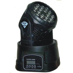 18 3w Led Moving Head Mini Wash Dm 010