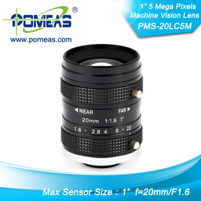 1inch 5mp Fl20mm Machine Vision Lens