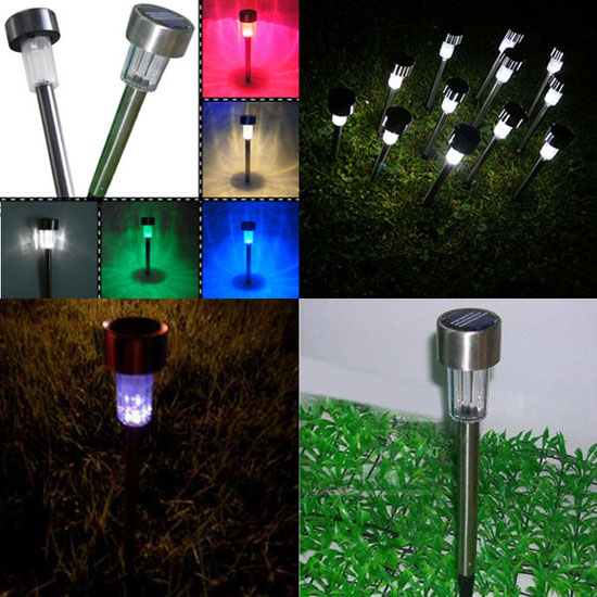 1pcs Box Plastic Solar Garden Light For Outdoor Decoration