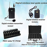 2 4g Digital Wireless Tour Guide System For Group And Conference