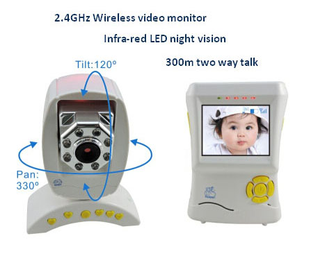 2 4g Wireless Digital Video Baby Monitor With Temperature Detector Night Vision 300m Two Way Talk