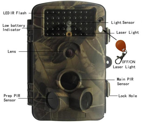 2 5 Tft Dvr Night Vison 65ft Hd Digital Infrared Trail Camera Color Cmos Hunting