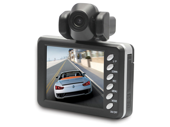 2 7 Inch Color Screen 1 3 Megapixel Car Black Box Dvr Video Recorder With Dual Camera Lens