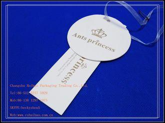 2012 Small Custom Hang Tags Printing Logo Shape